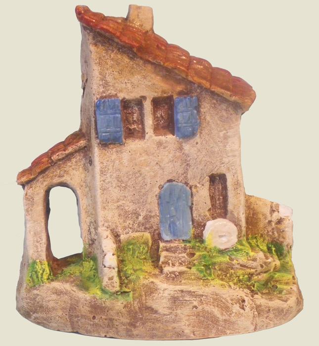 Mini maison avec porche santons truffier douzon for Maison avec porche