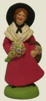 SANTON FEMME AUX FLEURS (7CM)