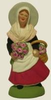 SANTON FEMME AUX ROSES (7CM)